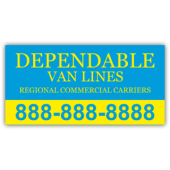 Dependable Van Lines Magnetic Sign - Magnetic Sign