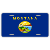 Montana State Flag License Plate
