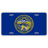 Nebraska State Flag License Plate