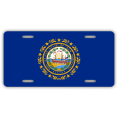 New Hampshire State Flag License Plate