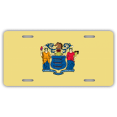 New Jersey State Flag License Plate