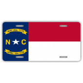 North Carolina State Flag License Plate