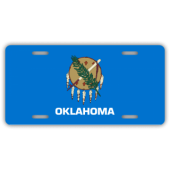 Oklahoma State Flag License Plate
