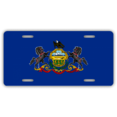 Pennsylvania State Flag License Plate