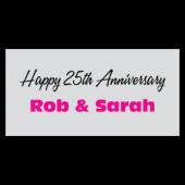 Happy 25th Anniversary Rob & Sarah