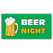Beer Night Vinyl Banner