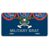 Military Brat License Plate