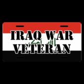Iraq War Veteran License Plate