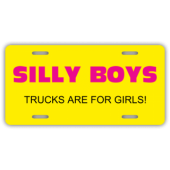 Trucks Are For Girls License Plate