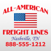American 322 Truck Lettering