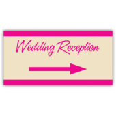 Wedding Reception Directional Arrow Banner
