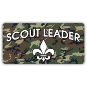 Scout Leader - Camo BG License Plate
