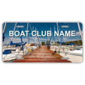 Boat Club Name With BG License Plate