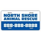 North Shore Animal Rescue License Plate