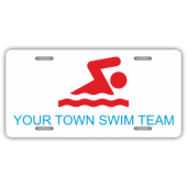 Your Town Swim Team License Plate