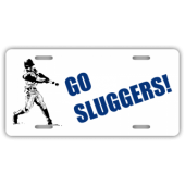 Go Sluggers License Plate