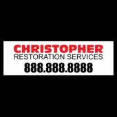 Christopher Restoration Service Magnetic Sign - Magnetic Sign