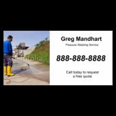 Greg Manhardt Pressure Washing Vinyl Banner