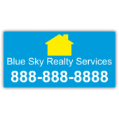 Blue Sky Realty Magnetic Sign - Magnetic Sign