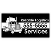 Logistics Company Magnetic Sign - Reliable Logistics - Magnetic Sign