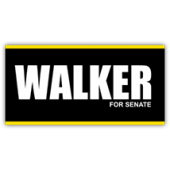 Walker For Senate Sign - Magnetic Sign