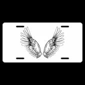 Angel Wings License Plate