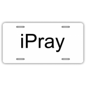 iPray License Plate