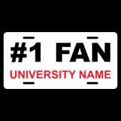 #1 Fan Custom License Plate