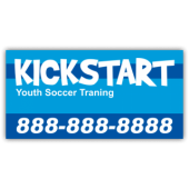 Kickstart Soccer Training Magnetic Sign - Magnetic Sign