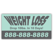 Weight Loss Magnetic Sign - Magnetic Sign