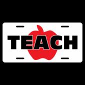 Teach License Plate