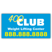 400 Club Weight Lifting Magnetic Sign - Magnetic Sign