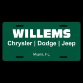Willems Chrysler Dodge Jeep License Plate