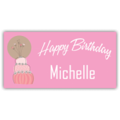 Happy Birthday Michelle Magnetic Sign - Magnetic Sign