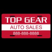 Top Gear Auto Sales License Plate