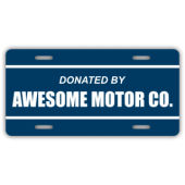 Donated By Awesome Motor Co License Plate