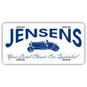 Jensens Classic Car Specialist License Plate