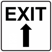 Exit Up - Square