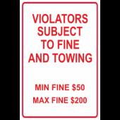 Violators Subject To Fine