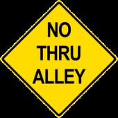 No Thru Alley