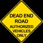 Dead End Authorized Vehicle