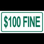 $100 Fine