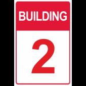 Red Custom Building Number