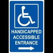 Handicap Accessible Entrance - Right Arrow