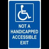 Not a handicap Accessible Exit