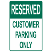Reserved Customer Parking Only