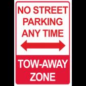 No Street Parking - Tow Away Zone