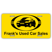 Frank's Used Car Sales License Plate