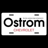Ostrom Chevrolet License Plate
