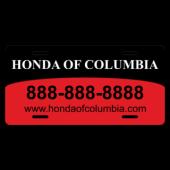 Honda of Columbia License Plate
